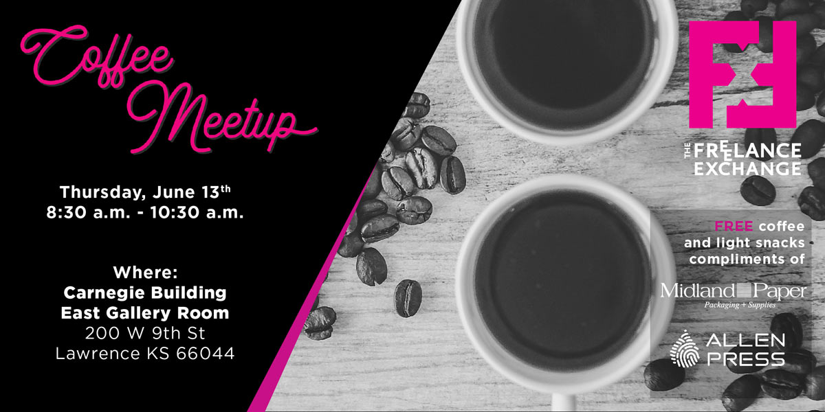 Coffee cups and beans coffee meetup for june 2019